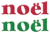 """Lettres """"Noël"""" en bois décoré rouges et vertes - Set de 8 lettres - Motifs peints - 10doigts.fr"""