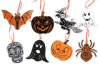 Cartes à gratter thème Halloween + accessoires - 8 formes - Carte à gratter - 10doigts.fr