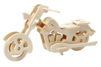Moto 3D en bois naturel à monter - Maquettes en bois - 10doigts.fr