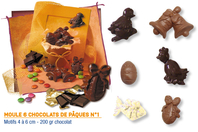 Moule chocolats de Pâques - 6 motifs - Moules gourmandises - 10doigts.fr
