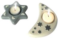 Moule 2 bougeoirs : lune et étoile - Moules - 10doigts.fr