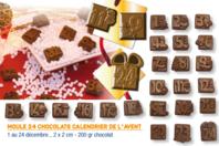 Moule chocolats calendrier de l'avent - 24 motifs - Moules gourmandises - 10doigts.fr