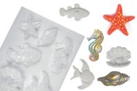 Moule 6 motifs de la mer - Moules - 10doigts.fr