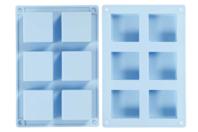 Moule en silicone carré pour savons - Moules en silicone - 10doigts.fr
