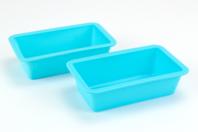 Moule savon rectangulaire en silicone - Lot de 2 - Moules savon - 10doigts.fr