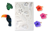 "Moule silicone ""Tropical""  - 14 motifs - Moules en silicone - 10doigts.fr"