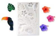 "Moule silicone ""Tropical""  - 14 motifs - Moules en silicone - 10doigts.fr"