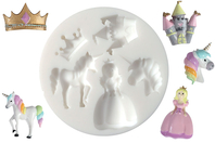 "Moule silicone ""Princesse"" - 5 formes - Moules en silicone - 10doigts.fr"