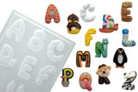 Moules alphabet rigolo - Set de 3 plaques - Moules - 10doigts.fr