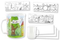 Mug à décorer - Plastique Transparent - 10doigts.fr