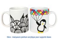 Mug en porcelaine blanche - Déco de la maison - 10doigts.fr