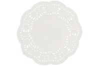 Napperons ronds en papier dentelle blanc - 30 pièces - Décorations en papier - 10doigts.fr
