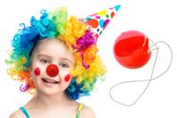 Nez de clown + élastiques - Mardi gras, carnaval - 10doigts.fr