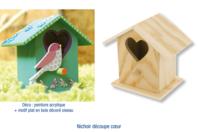 Nichoir à oiseaux en bois à poser - 7 cm - Nichoirs - 10doigts.fr
