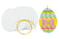 Oeufs en carton blanc à décorer - Kits activités Pâques - 10doigts.fr