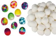 Oeufs en cellulose blanche - 50 pièces - Pâques - 10doigts.fr