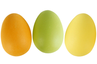 Oeufs en plastique couleurs - Supports de Pâques à décorer - 10doigts.fr