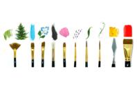 Kit Pinceaux et spatules - Set de 10 outils - Pinceaux - 10doigts.fr
