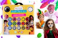 Maxi kit de maquillage enfant - 17 couleurs + accessoires - Maquillage - 10doigts.fr