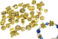 Perles charm's intercalaires dorés - 30 perles - Perles intercalaires - 10doigts.fr