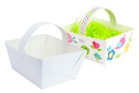 Paniers blanc à monter - Lot de 6 - Supports de Pâques à décorer - 10doigts.fr