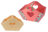 Panier découpe cœur en bois - Corbeilles et paniers - 10doigts.fr