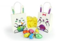 Sachets lapins + gommettes - 6 modèles - Kits activités Pâques - 10doigts.fr
