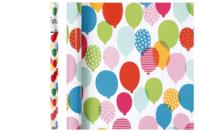 Papier cadeau ballons - 4 mètres - Papiers Cadeaux - 10doigts.fr