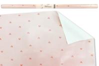 Papier cadeau rose - Motifs coeurs - Papiers cadeaux - 10doigts.fr