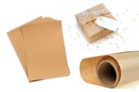 Papier Kraft naturel - Feuilles ou rouleau - Papiers Cadeaux - 10doigts.fr