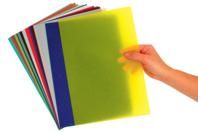 Papier calque, effet vitrail - 10 couleurs assorties - Papier calque - 10doigts.fr