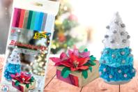 Papiers de soie couleurs de Noël - Set de 10 - Papiers de soie - 10doigts.fr