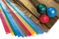 Papier de soie métallisé - 14 feuilles assorties - Papiers de soie - 10doigts.fr