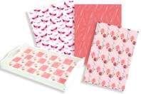 Papiers à encoller camaieu rose - 3 feuilles - Papiers Vernis-collage - 10doigts.fr