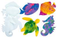 Animaux marins en papier diffuseur - Set de 48 - Nouveautés - 10doigts.fr
