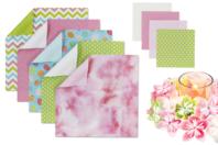 Papier origami fleuri - Set de 170 feuilles - Papiers Origami - 10doigts.fr