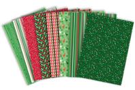 Papier glacé motifs de Noël - 96 feuilles - Décorations Noël - 10doigts.fr