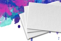 Papier épais blanc - Format au choix - Papiers pour peinture - 10doigts.fr