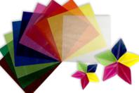 Papiers translucides pour Origami - 500 feuilles - Papier calque - 10doigts.fr