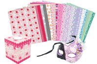 Maxi pack papiers à vernis-coller - 24 feuilles - Papiers Vernis-collage - 10doigts.fr