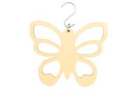 Suspension papillon en bois pour foulards et cravates - Porte-manteaux et patères - 10doigts.fr