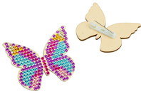 Broches papillon Diamant painting - 6 broches - Kits bijoux - 10doigts.fr