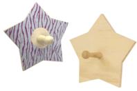 Patère étoile en bois - Porte-manteaux et patères - 10doigts.fr