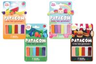 Pâtes à modeler PATAGOM - 6 couleurs - Patagom - 10doigts.fr