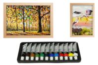 Peinture à l'huile - 12 couleurs - Peinture à l'huile - 10doigts.fr