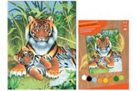 Tableau peinture au Numéro - Tigre - Peinture par numéros - 10doigts.fr