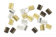 Perles tubes à écraser - 180 perles - Perles à écraser - 10doigts.fr