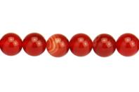 Perles Agate rouge - 48 perles - Perles Lithothérapie - 10doigts.fr