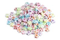 Perles alphabet fleurs - 300 perles - Perles en plastique - 10doigts.fr