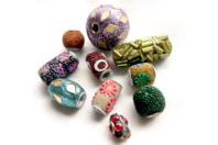 Perles artisanales Bollywood - 10 perles - Bijoux Bohème - 10doigts.fr
